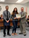 Students were recognized for their participation and placement in the Indian River State College Creative Writing Contest.