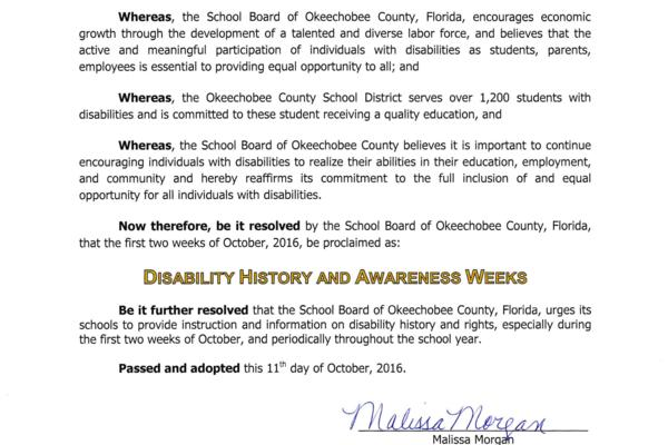 Disability History and Awareness Week