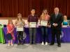 Students were recognized for their participation in the Crime Watch Poster Contest.