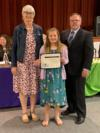 Audra Friend, a student from Central Elementary, was recognized for her participation in the Southern Regional Honor Choir.