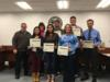 Several students from Okeechobee High School were recognized for their participation in the Heartland Honor Choir. Mrs. Wendy Reister and Mr. Jim Leidy were recognized for their help with the choir.