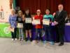 Students were recognized for earning the most AR points at their school.