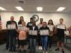 Students were recognized for their perfect scores on the FSA/FSAA test last year.