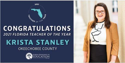 Link. Florida Teacher of the Year Image