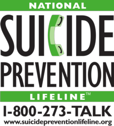 National Suicide Prevention Lifeline 1-800-273-TALK (8255) suicidepreventionlifeline.org    Text Connect to 741741